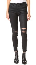 Blank Coated Ripped Jeans All Lacquered Up