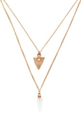Forever 21 Layered Faux Stone Necklace
