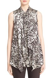 Women's St. John Collection Burnout Floral Shell