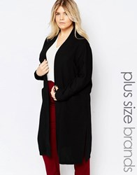Junarose Tailored Duster Coat Black