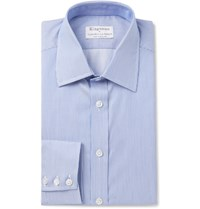 Kingsman Turnbull And Asser Slim Fit Striped Cotton Shirt Blue