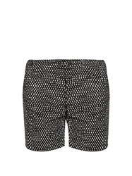 Danward Rectangular Print Swim Shorts Black Multi