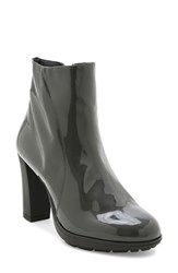 Andre Assous Women's 'Misty' Water Resistant Leather Bootie Grey Patent