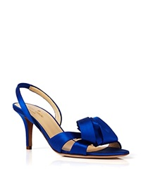 Kate Spade New York Open Toe Evening Sandals Madison Slingback Midheel Cobalt
