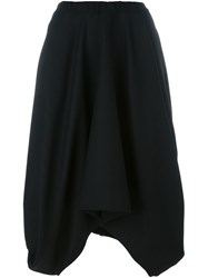 Societe Anonyme Draped Circle Skirt Black