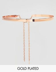 Johnny Loves Rosie Rose Gold Metal Waist Belt Rose Gold