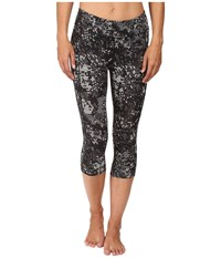 The North Face Pulse Capri Tight Asphalt Grey Triangle Party Print Women's Capri