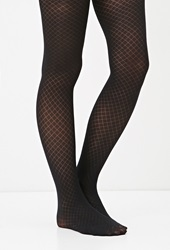 Forever 21 Lattice Patterned Tights Black