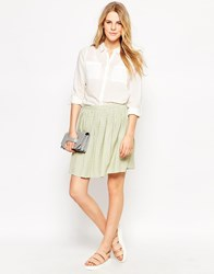 Le Mont St Michel Small Checked Skirt Yellow