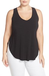 Plus Size Women's Tart 'Emerson' Cutout Back Tank Black