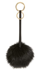 Mischa Lampert Pom Bag Charm Black Black Gold