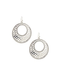 Rj Graziano R.J. Graziano Open Circle Drop Earrings Silvertone