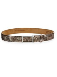 W. Kleinberg Metallic Calf Leather Belt Metallic Brown