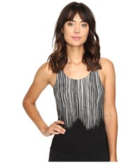 Norma Kamali Racer Active Top Fringe Women's Clothing Brown