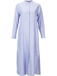 H Beauty And Youth. Longsleeved Shirt Dress Blue