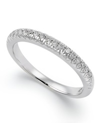 Macy's X3 Certified Diamond Anniversary Band Ring In 18K White Gold 1 4 Ct. T.W.