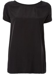 Theory Silk T Shirt Black