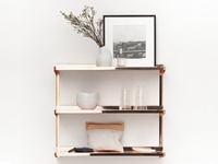 Click Shelf Copper New Tendency Auseinandernehmbar Berlin Beweglich Classic Copper Design Designed In Berlin Detachable Dwell Flexible Furniture Interior Kupfer Mobile Modular Movable Mobel New Tendency Stability Stabilitat Stackable Wohnen