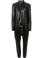 Each X Other Leather Long Sleeve Jumpsuit
