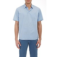 Barena Venezia Men's Striped Short Sleeve Shirt Blue