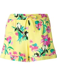 P.A.R.O.S.H. Floral Printed Shorts Yellow And Orange