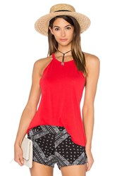 Michael Lauren Cactus High Neck Tank Red