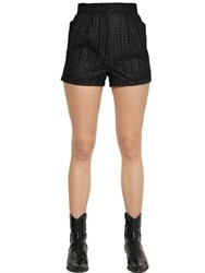 Philosophy Di Lorenzo Serafini Embroidered Cotton Poplin Shorts