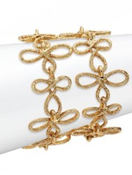 Oscar De La Renta Looped Rope Bracelet Light Gold