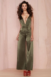 Nasty Gal After Party Vintage Aria Satin Jumpsuit