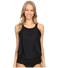 Prana Ani Tankini Top Black Women's Swimwear