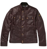 Belstaff Racemaster Slim Fit Waxed Cotton Jacket Burgundy