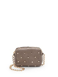 Deux Lux Studded Faux Leather Crossbody Taupe