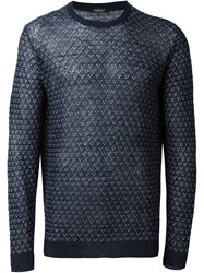 Roberto Collina Semi Sheer Woven Jumper Blue
