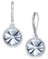Charter Club Bezel Set Crystal Earrings Only At Macy's Clear Silver