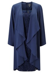 Adrianna Papell Lace Dress And Coat Set Navy