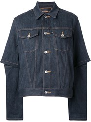 G.V.G.V. Open Elbow Denim Jacket Grey