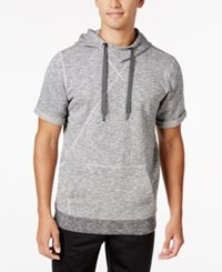 Adidas Men's Short Sleeve Basketball Hoodie Grey