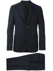 Z Zegna Single Breasted Two Piece Suit Blue