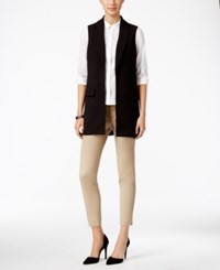 Charter Club Open Front Vest Only At Macy's Deep Black