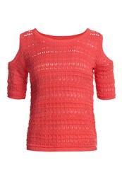 Superdry Makena Cove Crochet Knit Top Pink