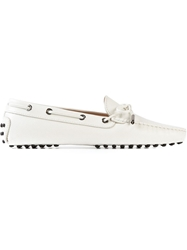 Tod's Bow Loafer Shoe White