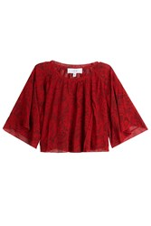 Iro Printed Cropped Top Red