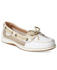 Sperry Women's Angelfish Boat Shoes Women's Shoes White Sand Stripe