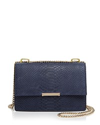 Ivanka Trump Mara Embossed Cocktail Shoulder Bag Eclipse