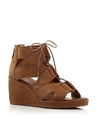 Eileen Fisher Lace Up Wedge Sandals Sienna