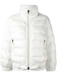 Moncler Cropped Padded Jacket White