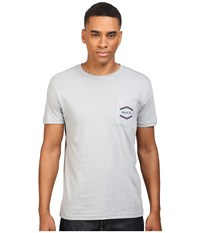 Rvca Double Hex Pocket Tee Monument Men's T Shirt Gray
