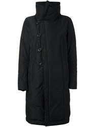 Dsquared2 High Standing Collar Coat Black