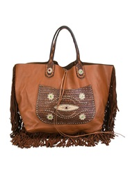 Dsquared2 Fringed Tote Brown