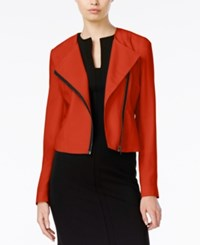 Bar Iii Moto Jacket Only At Macy's Tomato Red